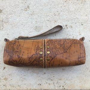 Patricia Nash Signature Map Leather Isla Pouch